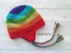 Easy Earflap Hat - free newborn to adult crochet pattern at Charmed By Ewe.
