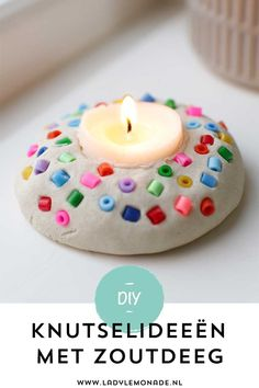 Making salt dough - Lots of great ideas and examples to make! - Making salt dough – Lots of great ideas and examples to make! of bread dough. Like this tea light - Clay Crafts For Kids, Diy For Kids, Diy And Crafts, Arts And Crafts, Easy Diy Projects, I Am Awesome, Make It Yourself, How To Make, Pinterest Blog