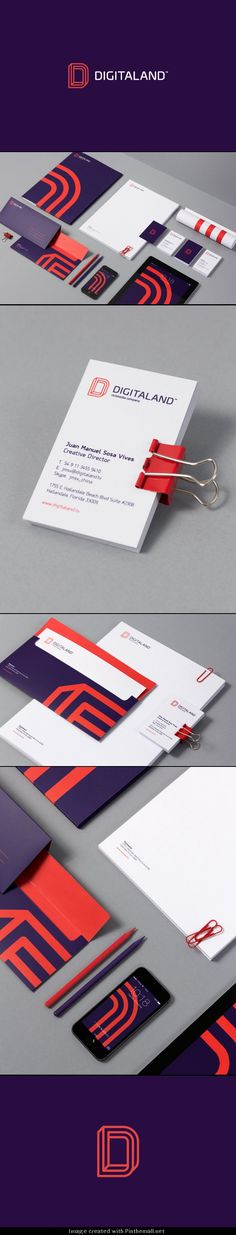 Digitaland has a beautiful identity using vibrant purples and oranges, while still remaining professional