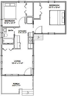14x32 Tiny House -- #14X32H1H -- 643 sq ft - Excellent Floor Plans