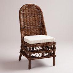 Dark Rattan Jayden Woven Chairs, Set of 2 | World Market #wicker #white #wovenchairs