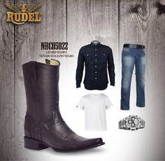El #Outfit perfecto para mañana.. ¿Te faltan las botas? Búscalas aquí http://botasrudel.com/tienda/caballero/lizard-negrovenado-italiano-negro/