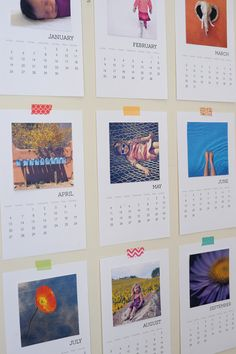 Fantastic: Free DIY printable 2016 photo calendar: just insert your favorite Instagram photos as they best suit your decor. Would be so fun to do one for a child's room, and another for the kitchen or home office.