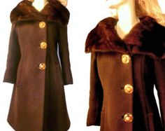 Flawless Vintage 1940's Winter Coat by by PattisVintageGalore. Now we have the faux fur...everywhere!