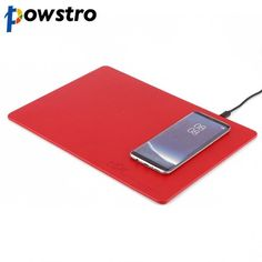 Powstro Leather 3 in 1 Multifunction Mouse Pad Qi Wireless Charger Pad Charging For All Qi-enabled Devices With USB Cable Brand Names, Charger, Cable, Usb, Technology, Leather, Gadgets, Quote, Products
