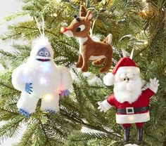 2-Pack Large Version Rudolph the Red Nosed Reindeer Christmas 24 3D HERMEY The Dentist Outdoor Indoor Holiday Decoration from