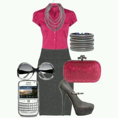 Pink and gray professional wear