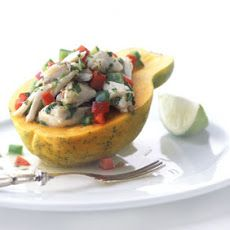 Thai-Style Crab Salad in Papaya. Oh yeah, this is going on the must-eat list.