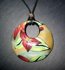 Trillium Flower pendant