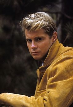 Troy Donahue, born Merle Johnson, Jr. January 27, 1936 in New York City, New York, USA . He was a journalism student at Columbia University when he began playing in stock productions. Made film debut in Man Afraid (1957). Died September 2, 2001 at age 65 in Santa Monica, California, USA. Photo 1960.     © 1978 Richard C. Miller