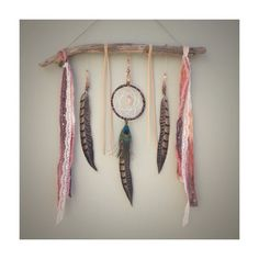 Dreamcatcher Wall Hanging, Boho Feather Wall Hanging, Dream Catcher Boho Decor by InspiredSoulShop on Etsy