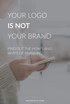 Your logo might be gorgeous, and you might have spent a lot of money on it, but you're selling yourself short if you think that graphic completes your branding effort.