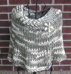 Super Bulky  165 - 198 Yards (sample in Katia Triana 5 skeins)  Quick Knit Capelet