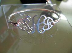 CutOut Monogram Bracelet by monogramsmandm on Etsy, $209.00