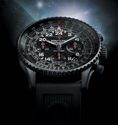 296 Breitling Navitimer Cosmonaute Blacksteel Watch