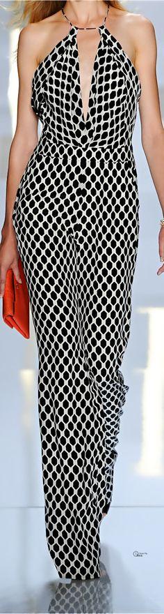 Diane von Furstenberg ● 2014 Spring, printed silk jumpsuit