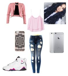 """""""Hanging out with friends outfit"""" by miashello on Polyvore featuring FRACOMINA, MANGO, Retrò and New Look"""