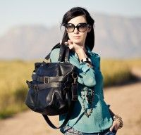 Rock's The Baker Black Leather Tote - Handmade in Cape Town. Available at rockandherr.com
