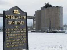 The grain elevators in Buffalo are towering relics of a former industrial age.