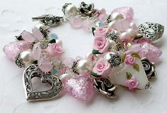 this is just sooo super pretty!!! Reserved Sterling Silver Hearts Charm by shalayneoriginals, $285.00
