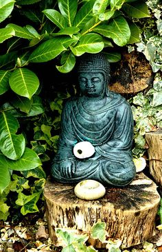 Awesome Buddha Statue for Garden Decorations 43 - Rockindeco Lotus Buddha, Art Buddha, Buddha Zen, Buddha Buddhism, Meditation Corner, Meditation Garden, Dream Garden, Garden Art, Garden Works
