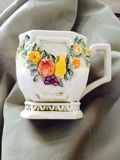 Vintage Lefton Ceramic Mug Fruit Fantasia by VisualaromasVintage