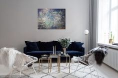 Gilded abstraction with blue Swarovski crystals to inspire you  /oil on canvas /golden dust/ swarovski crystals /50x70x1.5