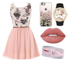 """""""Casual - Pastel Pink"""" by chameleonofdoom on Polyvore featuring Keds, Jessica Carlyle, Lime Crime and Casetify"""