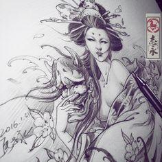Bekijk deze Instagram-foto van @zhiyong_tattoo • 1,067 vind-ik-leuks