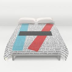 Oh my gosh I want it! Twenty One Pilots Lyrics Duvet Cover by Kaitlin Andesign - $99.00