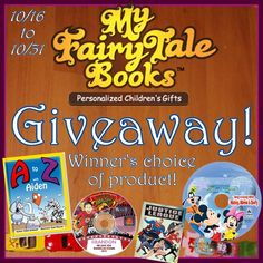 Low entry #giveaway! Your child could be the star of the story when you enter to #win your choice of personalized book, CD, or DVD from MyFairyTaleBooks.com! Ends October 31 (11:59pm).