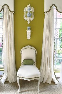 Trimmed out Cornice with Puddled Drapes Window Drapes, Window Coverings, Drapes Curtains, Valances, Interior Exterior, Interior Design, Interior Ideas, Custom Window Treatments, Window Styles