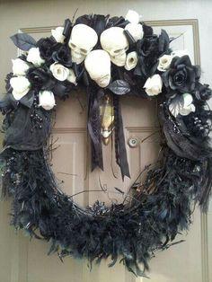 Gothic christmas wreath