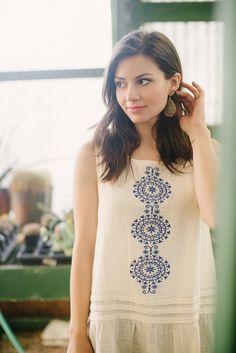 Alto Lakes Embroidered Tank Lakes, Tunic Tops, Shopping, Collection, Women, Fashion, Beautiful Women, Moda, Fashion Styles