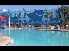 Finding Nemo pool underwater sounds at Disney's Art of Animation Resort~  The Imagineers are awesome!