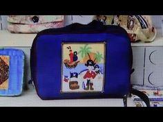 Mala ou bolsa infantil de tecido do Pirata - Maria Adna Ateliê - Aula de bolsa ou mala infantil - YouTube
