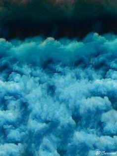 SJ Cummings : 3rd Floor - Blue Dream, $1902 Blue Dream, Science Art, Clouds, Paintings, Flooring, Gallery, Artwork, Outdoor, Outdoors