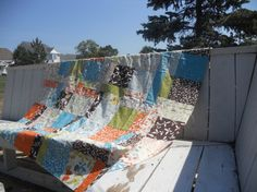 Large Quilt Custom quilt top by PeaceofMeQuilts on Etsy, $85.00