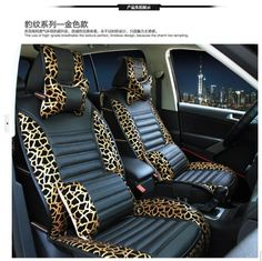 Leopard print car seat four seasons general car seat auto supplies car decoration-inStickers from Automobiles Motorcycles on Aliexpress.co...