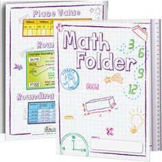 Math Tri-Fold 3- Pocket Folders