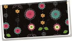 Checkbook Cover  Posies Doodled Floral on by rabbitholeonline, $6.25