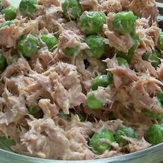 Tuna Fish Pea Salad - so good! Perfect for lunches on the go on bread or with pretzels! Or in a salad wrap!
