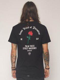 Rose Tee - Black - THRILLS CO - 3