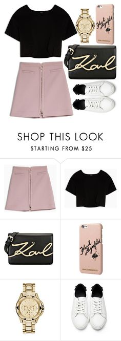 """Untitled #1578"" by mihai-theodora ❤ liked on Polyvore featuring Max&Co. and Karl Lagerfeld"