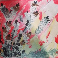 Coral sea part 2 #painting #flowers #colorful #summer #summertime #canvas #acrilico