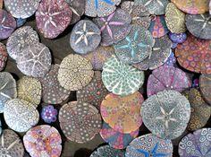 sands, shell, seas, colors, art, sea urchins, sand dollars, painted rocks, beach