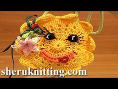 Crochet Sun Purse For Kids Tutorial 9 Part 1 of 2 Free Crochet Purse Pattern - YouTube