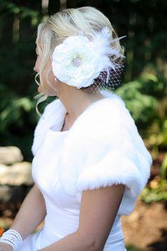 Weddings Hair Piece Wedding Fascinator Bridal by KrumpetsDesigns, $48.50
