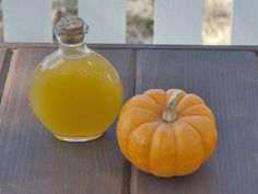 "DIY pumpkin liqueur from Serious Eats - Eat Your Books is an indexing website that helps you find & organize your recipes. Click the ""View Complete Recipe"" link for the original recipe. Cocktails With Malibu Rum, Rum Cocktail Recipes, Fall Cocktails, Fall Drinks, Cocktail Mixers, Halloween Cocktails, Halloween Party, How To Make Pumpkin, Diy Pumpkin"