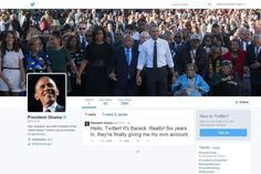 Barack Obama Launches His Own Twitter Feed
